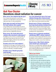 questions to ask your doctor about radiation for cancer astro