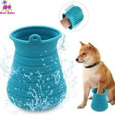 <b>1PC Soft Silicone Dog</b> Paw Washer Portable Comfortable Dog Paw ...