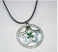 Free Shipping $48 50pcs charming green <b>four leaf clover lucky</b> five ...