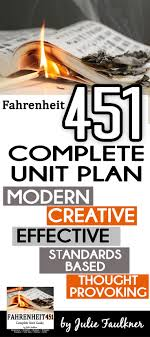 best images about fahrenheit lesson plans fahrenheit 451 literature guide unit plan ray bradbury