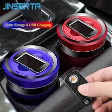 JINSERTA <b>Rechargeable Solar</b> Energy <b>Car</b> LED <b>Ashtray Car</b> Trash ...
