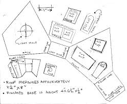 Building a Vintage Style Cardboard Halloween House   Howard    s How    Double click on this image to see a higher resolution pattern