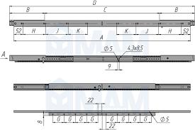 <b>Механизм царг. с</b> увеличением длины 650/900 мм, синхрон ...