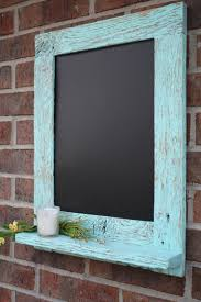 items similar to rustic aqua reclaimed barn wood chalkboard with a shelf perfect for your home office or wedding on etsy barn wood ideas