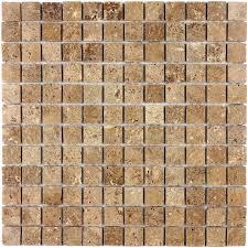 Travertino Brown POL 23x23 - <b>Мозаика из натурального камня</b>