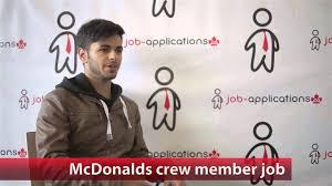 mcdonalds crew member job