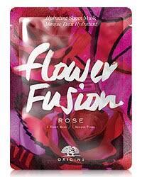 <b>Flower Fusion</b>™ <b>Rose</b> Hydrating Sheet Mask   <b>Origins</b>