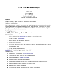 sample resume objectives for banking shopgrat cover letter career objectives examples resume for bank teller skills and qualifications sample