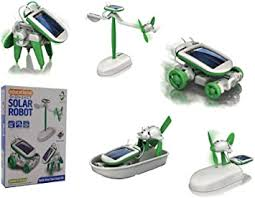 <b>6 in 1</b> Educational 'do it yourself kit' <b>Solar</b> Kit to Build Robot Toy Car ...