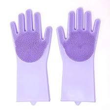 Max Home Magic <b>Silicone</b> Hand <b>Gloves</b> for Kitchen <b>Dish Washing</b> ...