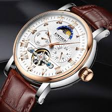 <b>KINYUED</b> JYD-J029 Moon Phase <b>Automatic Mechanical Watch</b> ...