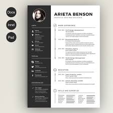 resume templates  creative marketclean cv resume