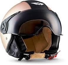 <b>Moto</b> Helmets H44 <b>Biker Motorcycle Helmet</b> Vintage moped scooter ...