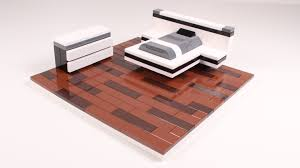 Lego Furniture How To Build A Lego Modern Bed Set Youtube
