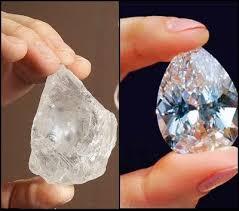 Resultado de imagem para diamante a ser lapidado