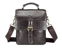 Genda 2Archer <b>Genuine</b> Cowhide <b>Leather</b> Mens Messenger Bag ...