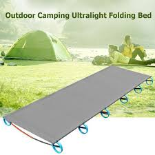Outdoor portable folding bed camp bed Ultra <b>light aluminum alloy</b> ...