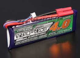 <b>Аккумулятор</b> 7.4V <b>4000mAh</b> 2S 25~50C <b>nano</b>-<b>tech</b> (Turnigy ...