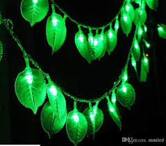 Holiday Lighting <b>10M 100Led</b> lamp 8 kinds of patterns green <b>leaves</b> ...