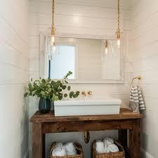 75 Beautiful Limestone Floor Powder Room With White Walls ...