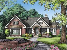 One Story Brick Ranch House Plans One Level Ranch Style Home  one