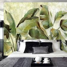 Oil Painting Tropical Plants Wallpaper Wall <b>Mural</b>, <b>Hand Painted</b> Oil ...