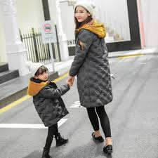 2018 <b>Winter Mother and Daughter</b> Clothes Cotton Jackets <b>Mom</b> Son ...