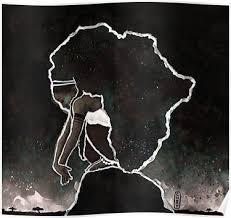 <b>Africa Thinking</b> Poster in 2019 | <b>Black girl</b> art, Black love art, <b>African</b> art
