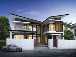 Story Modern House Plans   mexzhouse comModern Two Storey House Designs Two Storey Mansion