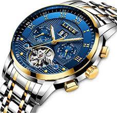 Mens Watches Top Brand Luxury LIGE Automatic ... - Amazon.com