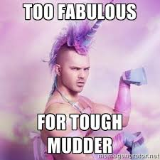 Too fabUlous For tough Mudder - Unicorn man | Meme Generator via Relatably.com