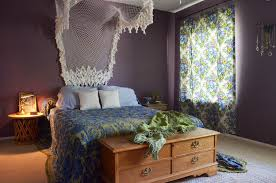 consider this as subtle version of boho decor with a beatiuful lacy canopy boho curtains boho chic furniture
