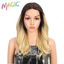 "<b>MAGIC Hair</b> Blonde 18""Inch Wavy Synthetic <b>Lace Front Wigs</b> for ..."
