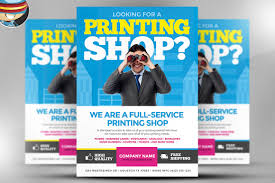 printing services flyer template on behance once you have ed this template using adobe photoshop cs4 you can make use of this flyer design an unlimited number