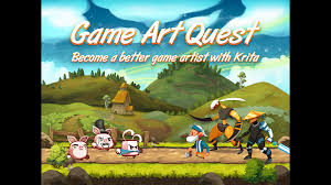 create professional d game art krita video training by nathan using krita the open source painting program game art quest will show you