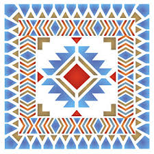 Above  The Navajo Four Corners Stencil Is Shown Here Surrounded By Chevron Border And High Ridge U0026amp Corner Stencil  R