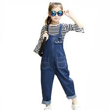 <b>2018 New</b> Spring Girls <b>Children Denim</b> Jeans Korean Jumpsuit ...