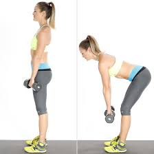 Image result for woman regular deadlift dumbells workout