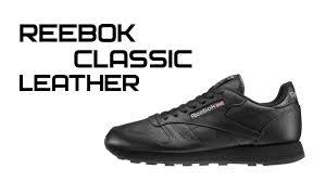 Обзор <b>кроссовок Reebok</b> Classic Leather Black - YouTube