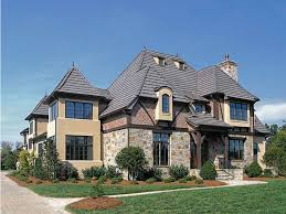 Tudor House Plans at Dream Home Source   European Tudor Style Home    Tudor house plans are inspired by building techniques from the medieval era  The Tudor Revival caught on in America during the s and s