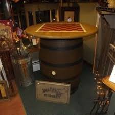 jim beam whiskey barrel table authentic jim beam whiskey barrel table