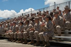 u s department of defense photo essay marines listen as defense secretary chuck hagel addresses troops on marine corps base hawaii kaneohe