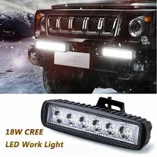7inch DC 10-30V <b>18W 6LED Work</b> Light Bar Spot Suv Boat Driving ...