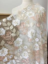 1 <b>Yard Exquisite</b> pastel floral embroidery <b>soft</b> mesh sequin lace ...