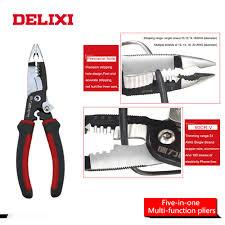 DELIXI 5 in 1 8 inches Multitool Combination Pliers Stripper/<b>Crimper</b> ...