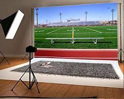 Laeacco 7x5FT Vinyl Backdrop Football Field ... - Amazon.com