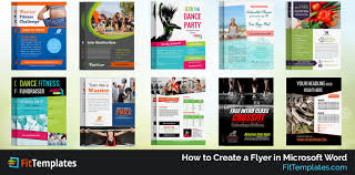 making a flyer on word anuvrat info how to create a flyer in microsoft word fit templates