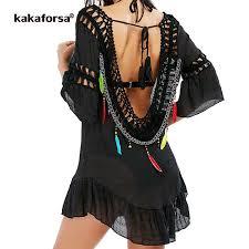 Kakaforsa <b>2019</b> Women Sexy Backless <b>Beach Cover Up</b> Crochet ...