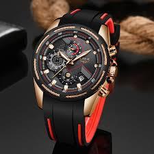 <b>LIGE</b> Unique Sports <b>Watch Men's</b> Quartz Date Clock Waterproof ...