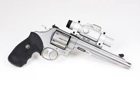 model 29 six shooter with red-dot